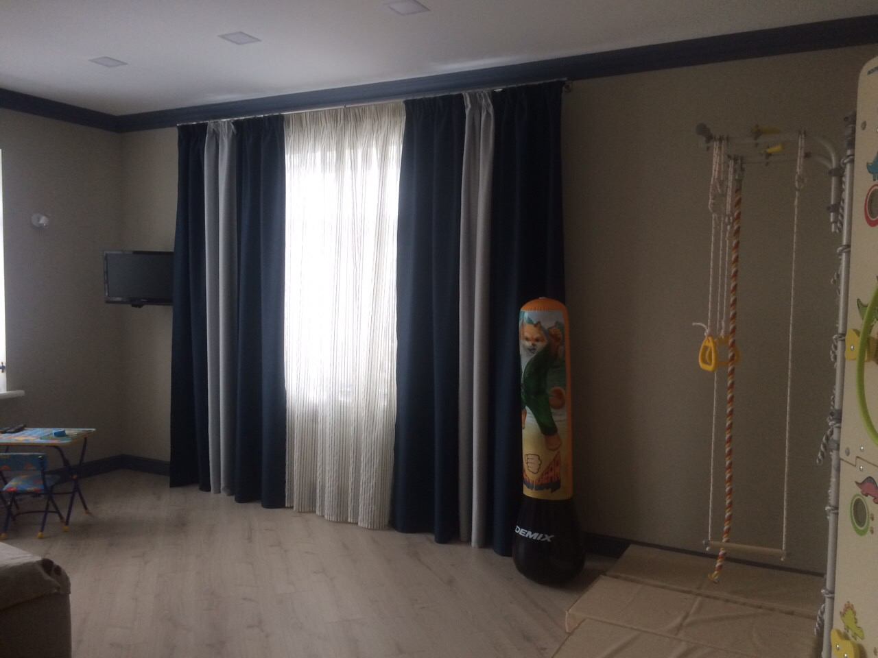 Комбинированные шторы блэкаут
