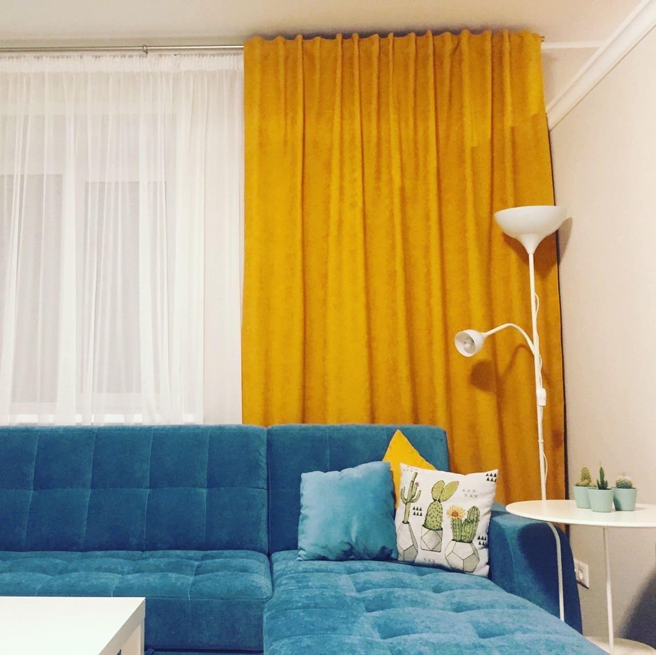 Жёлтые шторы
